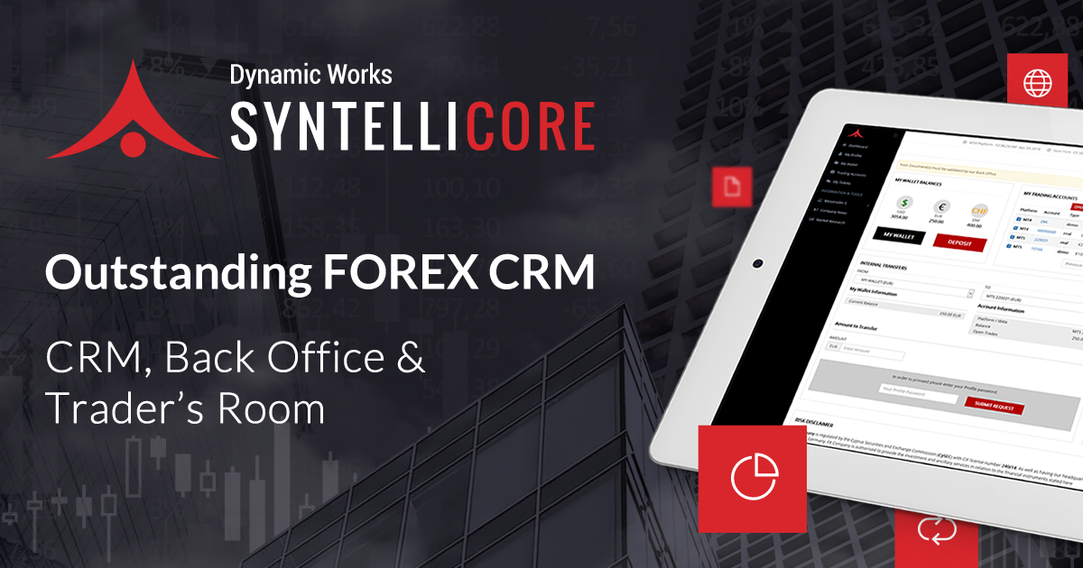 Syntellicore™ Forex CRM Traders Room Clients Area Unique Live Forex Trading Room Model